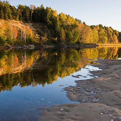 The Merrimack River in Canterbury, New Hampshire.  Fall.