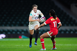 Emily Scarratt of England in possession - Mandatory byline: Patrick Khachfe/JMP - 07966 386802 - 26/11/2016 - RUGBY UNION - Twickenham Stadium - London, England - England Women v Canada Women - Old Mutual Wealth Series.