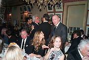 ANTHONY BAMFORD;; ELLE MACPHERSON; GUY RITCHIE, Graydon Carter hosts a diner for Tom Ford to celebrate the London premiere of ' A Single Man' Harry's Bar. South Audley St. London. 1 February 2010