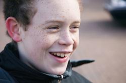 Portrait  of a boy smiling,