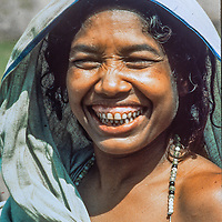 Homeless village women from Bangladesh, left widowed, destitute or raped after a cyclone and brutal war of independence in 1971,  find shelter at Mirpur Destitute Camp near Dhaka , 1977 Image.