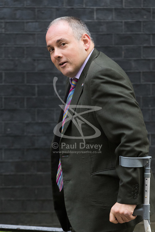 Deputy Chairman of the Conservative Party Robert Halfon arrives at Prime Minister David Cameron's final cabinet meeting following Theresa May's anticipated takeover as Leader of the Conservative Party and Prime Minister