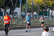 On Sunday, October 20th 2019 thousands of runners participated in the annual Lisbon marathon. Photographed in Belem, Lisbon, Portugal