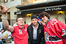 Miha Stebih of Slovenia of Slovenian Ice Hockey National Team at meeting with their supporters at day off during 2015 IIHF World Championship, on May 9, 2015 in Restaurant Zadni Vratka, Stodolni Street, Ostrava, Czech Republic. Photo by Vid Ponikvar / Sportida