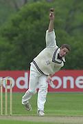 Shenley Middlesex Sri Lanka Tour Match<br /> Middlesex vs Sri Lanka <br /> Photo Peter Spurrier<br /> 11/05/2002<br /> Sport - Cricket - Middlesex vs Sri Lanka -Shenley:<br /> Middlesex's Ben Hutton bowling  (ball that took Chandana's wicket. [Mandatory Credit:Peter SPURRIER;Intersport Images]
