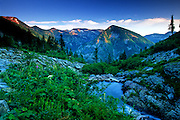 Outlet of Rock Lake in the Cabinet Mountains Wilderness Area. Kootenai National Forest, northwest Montana.
