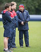 Bagshot, Surrey. UK.<br /> Eddie JONES, during the <br /> RFU. England Rugby Team, Training session at the Pennyhill Park training complex. <br /> <br /> [Mandatory Credit: Peter SPURRIER;Intersport images]