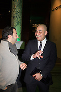 KARIM KOBROSSI; FADY JAMEEL, Jameel Prize, Victoria and Albert Museum. London. 10 December 2013.<br /> <br /> The Jameel Prize is an international award for contemporary art and design inspired by Islamic tradition.