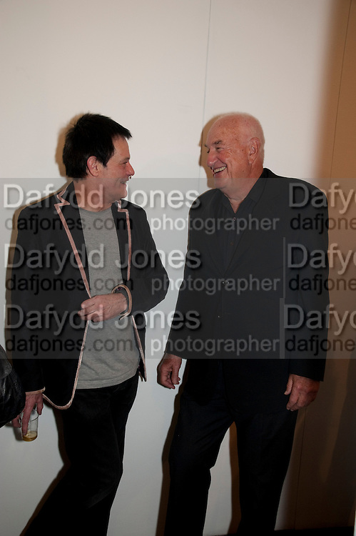 ROBERT HAWKINGS; DON RUBELL, 'Engagement' exhibition of work by Jennifer Rubell. Stephen Friedman Gallery. London. 7 February 2011. -DO NOT ARCHIVE-© Copyright Photograph by Dafydd Jones. 248 Clapham Rd. London SW9 0PZ. Tel 0207 820 0771. www.dafjones.com.