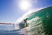 Surfing the Pacific Ocean at San Clemente
