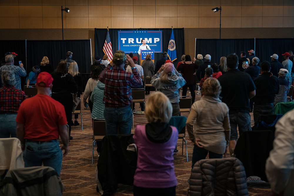 "DULUTH, MN – SEPTEMBER 9: Donald Trump, Jr. speaks to the crowd of around 250 people at a ""Make America Great Again"" rally in Duluth, Minnesota on Wednesday, Sept. 9, 2020."