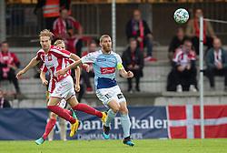 Tom van Weert (AaB) og Johan Absalonsen (SønderjyskE) under finalen i Sydbank Pokalen mellem AaB og SønderjyskE den 1. juli 2020 i Blue Water Arena, Esbjerg (Foto Claus Birch).