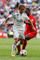 Real Madrid´s Michel Salgado during 2015 Corazon Classic Match between Real Madrid Leyendas and Liverpool Legends at Santiago Bernabeu stadium in Madrid, Spain. June 14, 2015. (ALTERPHOTOS/Victor Blanco)