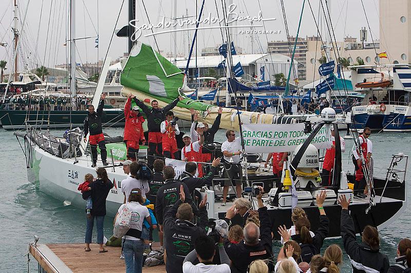 © Sander van der Borch.Alicante, 11 October 2008. Start of the Volvo Ocean Race.