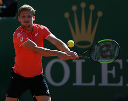 April 20, 2018 - Biarritz, Pays Basque, Nouvelle, Monaco - Tennis - ATP- Monaco - Monte Carlo, Monte  Carlo country club, Rolex Monte - Carlo Masters 2018, 20 avril 2018..Le belge David Goffin  (Credit Image: © Panoramic via ZUMA Press)