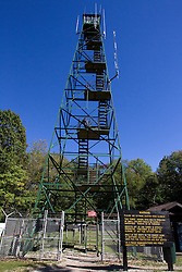 09 October 2013:  Fire Tower near the Park Office in  Brown County State Park, Brown County Indiana.