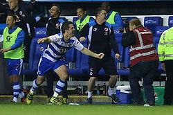 Yann Kermorgant of Reading celebrates as the full time whistle is blown, Reading 1-0 Fulham - Mandatory by-line: Jason Brown/JMP - 16/05/2017 - FOOTBALL - Madejski Stadium - Reading, England - Reading v Fulham - Sky Bet Championship Play-off Semi-Final 2nd Leg