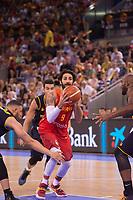 Spain's XXX and Venezuela's XXX during friendly match for the preparation for Eurobasket 2017 between Spain and Venezuela at Madrid Arena in Madrid, Spain August 15, 2017. (ALTERPHOTOS/Borja B.Hojas)