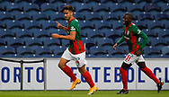 Rodrigo Pinho of Maritimo celebrates his goal during the Portuguese League (Liga NOS) match between FC Porto and Maritimo at Estadio do Dragao, Porto, Portugal on 3 October 2020.