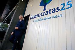O pré-candidato, José Fortunati após reunião com Onix Lorenzoni e outros intergrantes do Democratas (DEM), na sede do partido, em Porto Alegre. FOTO: Jefferson Bernardes/Preview.com