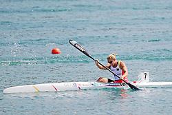 22.08.2015, Mailand, ITA, Kanu WM 2015, im Bild Sabine Volz (Karlsruhe) verpasst bei der WM in Mailand im KI 200m den Einzug ins A-Finale // during the 2015 canoe world championship at Mailand, Italy on 2015/08/22. EXPA Pictures © 2015, PhotoCredit: EXPA/ Eibner-Pressefoto/ Freise<br /> <br /> *****ATTENTION - OUT of GER*****