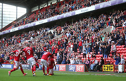 Charlton Athletic's Ricky Holmes celebrates after scoring their second goal