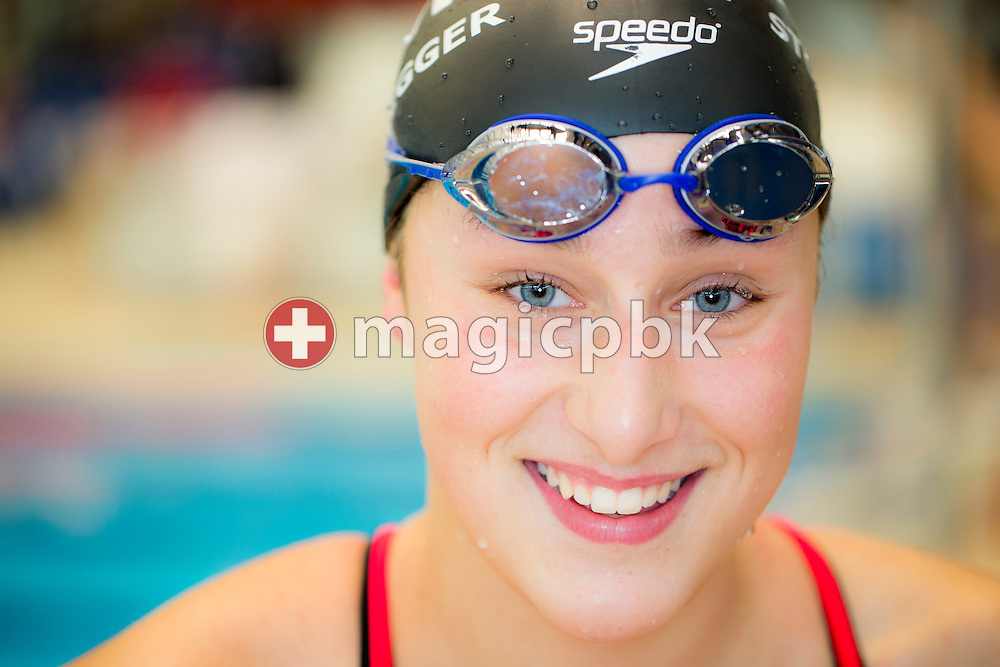 SCUW's Seraina STURZENEGGER of Switzerland is pictured during her warm-up during the Swiss Swimming Championships at the Piscine des Vernets in Geneva, Switzerland, Saturday, March 16, 2013. (Photo by Patrick B. Kraemer / MAGICPBK)