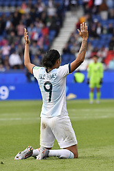 June 10, 2019 - Paris, ile de france, France - Sole JAIMES (ARG) celebrate the draw against the Women's Football team (Nadeshiko Japan) after  the match between Argentina and Japan at the 2019 World cup  on June 10, 2019, at the Parc des Princes stadium in Paris, France. (Credit Image: © Julien Mattia/NurPhoto via ZUMA Press)