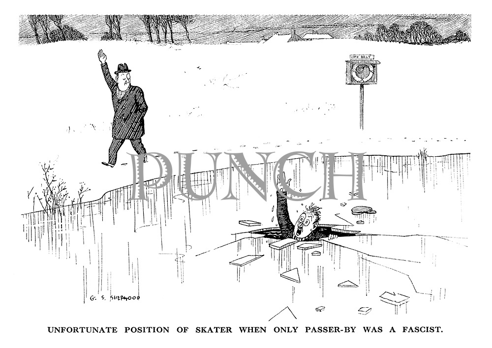 Unfortunate position of skater when only passer-by was a Fascist.