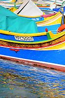 Bow of a boat in Marsaxlokk