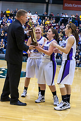 21 January 2012: LeRoy v ElPaso-Gridley in the Championship game of 2012 101st McLean County Tournament at the Shirk Center, Illinois Wesleyan University, Bloomington IL