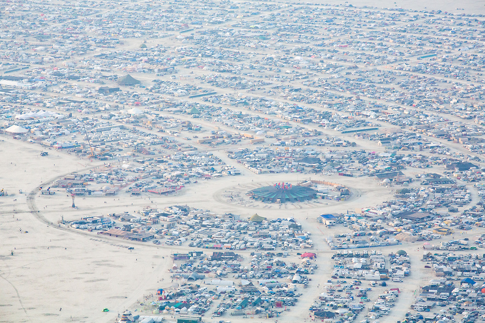 Aerial Photo Black Rock City 2014