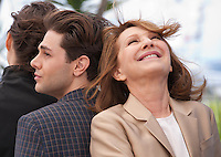 Xavier Dolan and Nathalie Baye at the It's Only the End of the World (Juste La Fin Du Monde) film photo call at the 69th Cannes Film Festival Thursday 19th May 2016, Cannes, France. Photography: Doreen Kennedy