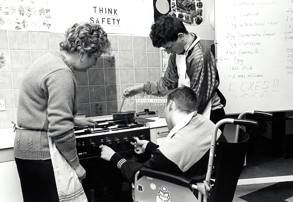 Portland College, Nottinghamshire UK. Working with disabled people to develop their employability, independence and communication skills. 1991