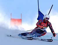 Photo: Catrine Gapper.<br />Winter Olympics, Turin 2006. Alpine Skiing Mens Giant Slalom. 20/02/2006. Didier Defago of Switzerland finishes Men s Giant Slalom in fourteenth place.