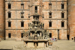 Fountain at Linlithgow Palace in Scotland, United Kingdom