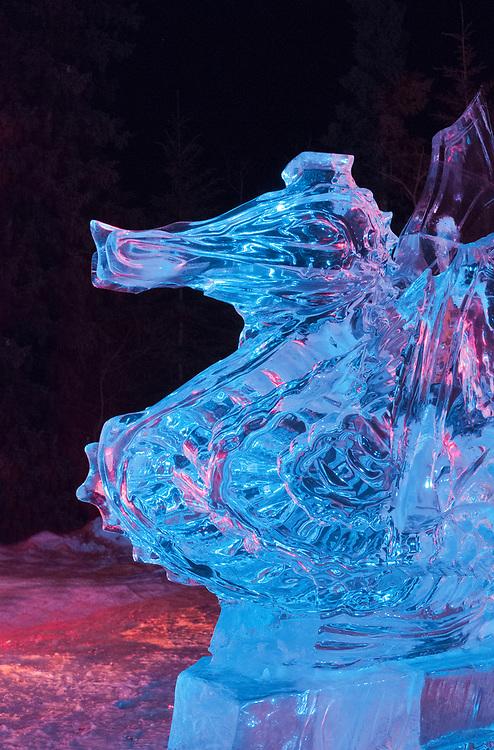 North America; United States; Alaska; Fairbanks; Ice Alaska; Carving; Dragon