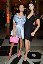 Left to right, BIP LING and EVANGELINE LING at a party hosted by Cutler and Gross to celebrate the 30th anniversary of design director Marie Wilkinson held at the V&A Museum, Cromwell Road, London on 26th June 2013.