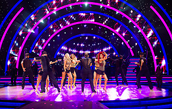 Stacey Dooley, Ashley Roberts, Lauren Steadman, Faye Tozer,  Janette Manrara, Dianne Buswell, Karen Clifton, Nadiya Bychkova, Luba Mushtuk, Amy Dowden, Dr Ranj Singh, Joe Sugg, Graeme Swann, Aljaz Skorjanec, Pasha Kovalev, AJ Pritchard, Giovanni Pernice, Graziano Di Prima and Johannes Radebe attend the photocall for the 'Strictly Come Dancing' live tour at Arena Birmingham on 17 January 2019 in Birmingham, England. Picture date: Thursday 17 January, 2019. Photo credit: Katja Ogrin/ EMPICS Entertainment.