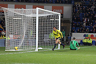 Sunderland's Steven Fletcher (c) celebrates after he scores his sides 1st goal.  Barclays Premier league, Cardiff city v Sunderland at the Cardiff city Stadium in Cardiff,  South Wales on  Saturday 28th Dec 2013. <br /> pic by David Richards, Andrew Orchard sports photography.