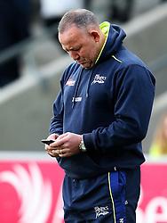 Sale Sharks' director of rugby Steve Diamond checks his phone before the match - Mandatory by-line: Matt McNulty/JMP - 20/11/2016 - RUGBY - AJ Bell Stadium - Sale, England - Sale Sharks v Saracens - Aviva Premiership