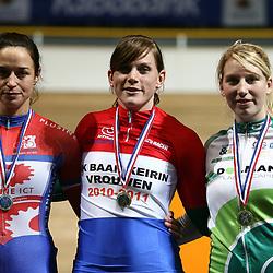 Willy Kanis Nederlands kampioen Keirin. voor Yvonne Hijgenaar en Nina Kessler