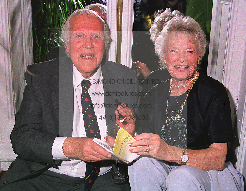 MR & MRS EDWARD BRANSON parents of Richard Branson, at a party in London on 26th May 1999.MSN 146