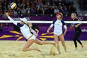 Beach Volleyball, Womens - CZE (Slukova/Kolocova) vs USA (Kessy/Ross)