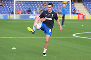 AFC Wimbledon midfielder Anthony Hartigan (8) warming up during the EFL Sky Bet League 1 match between AFC Wimbledon and Portsmouth at the Cherry Red Records Stadium, Kingston, England on 13 October 2018.