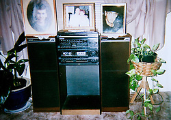 19 Jan,2006. Collect photograph. The first proper stereo system owned by famous rapper Marshall Bruce Mathers III, aka Eminem. The stereo system is owned by his grandmother Betty Kresin. She says that Eminem learned to rap, taught by his late uncle Ronnie Polkingharn who was more like a brother than an uncle to Eminem. Betty Kresin will be selling the stereo on E-Bay in the near future.<br /> Photo Credit: Kresin via  www.varleypix.com