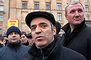 Moscow, Russia, 16/12/2006.&#xA;&#xA;Garry Kasparov and bodyguards at the anti government March Of Dissenters. Several thousand opposition demonstrators gathered in central Moscow under the banner of the Other Russia movement led by Garry Kasparov. A planned march was banned, and the demonstrators held a meeting in a central square instead.<br />