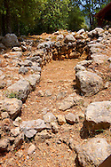 Mycenaean tholos tomb [ 1300 B.C ]. at the outskirts of the village Tzanata, near Poros in south-eastern Kefalonia, Ionian Islands, Greece. .<br /> <br /> Visit our GREEK HISTORIC PLACES PHOTO COLLECTIONS for more photos to download or buy as wall art prints https://funkystock.photoshelter.com/gallery-collection/Pictures-Images-of-Greece-Photos-of-Greek-Historic-Landmark-Sites/C0000w6e8OkknEb8