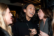 ALEXANDER WANG, party to celebrate Alexander Wang at Liberty and The Androgyny Issue of LOVE, hosted by Katie Grand, Alexander Wang, and Ed Burstell of Liberty, Liberty. Great Marlborough St. London. 21 February 2011. -DO NOT ARCHIVE-© Copyright Photograph by Dafydd Jones. 248 Clapham Rd. London SW9 0PZ. Tel 0207 820 0771. www.dafjones.com.