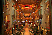 Royal Caribbean International's  Independence of the Seas, the world?s largest cruise ship. ..Interior and exterior features photos...Royal Promenade. *** Local Caption *** Royal Promenade.